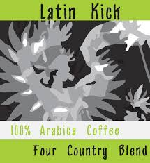Coffee Beans Latin Kick Four Country Blend