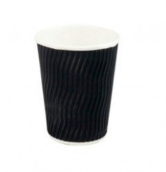 Double Wall Coffee Cups - Cool Wall Black
