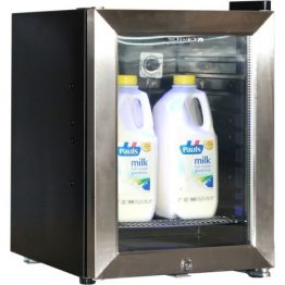 Glass Door Mini Milk Fridge